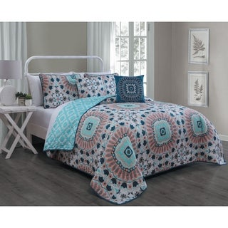 Avondale Manor Malta 5-piece Floral Pattern Quilt Set