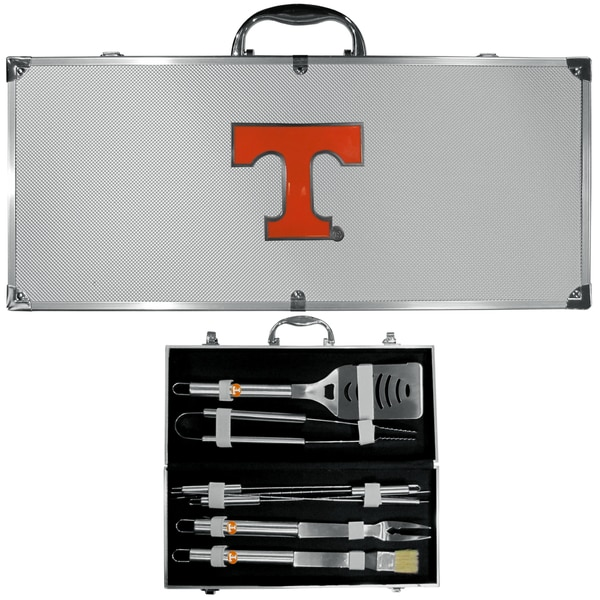 Collegiate Tennessee Volunteers Stainless Steel 8-piece Barbecue Set with Metal Case