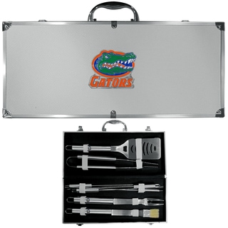 Collegiate Florida Gators Stainless Steel 8-piece Barbecue Set With Metal Case