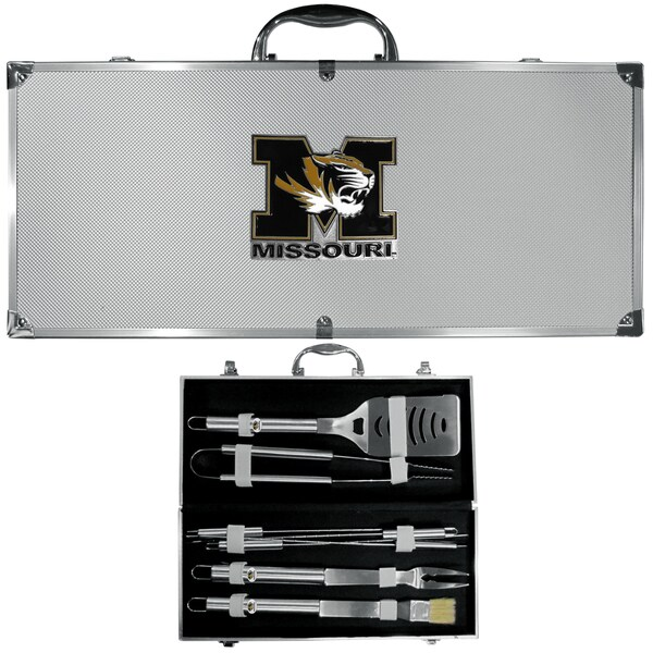 Collegiate Missouri Tigers Multicolored Stainless Steel 8-piece Barbecue Set w/Metal Case
