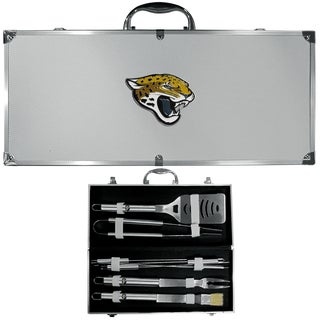 NFL Jacksonville Jaguars Stainless Steel 8-piece Barbecue Set With Metal Case