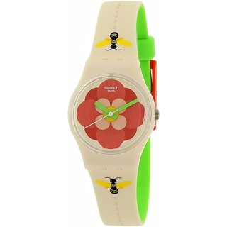 Swatch Women's Lady LM140 Beige Silicone Swiss Quartz Watch