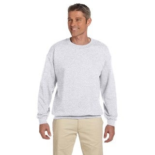 Men's Big and Tall Ash Grey Cotton-blended Crewneck Sweater