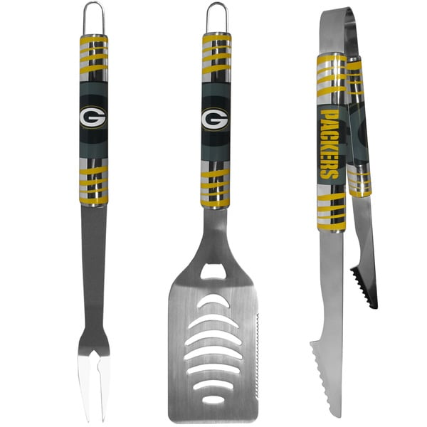NFL Green Bay Packers Stainless Steel 3-piece Tailgater Barbecue Set