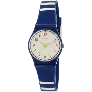 Swatch Women's Originals LN149 Blue Silicone Swiss Quartz Watch