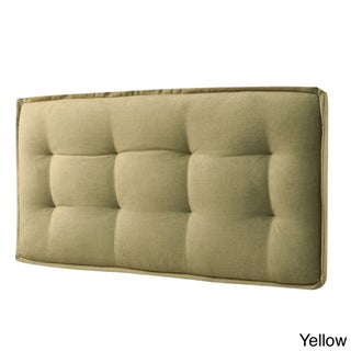 LYKE Home Queen-size Wall Mount Faded Upholstered Panel Headboard