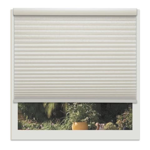 Linen Avenue Custom Cordless Off-white 22- to 23-inch Wide Seashell Light-filtering Cellul