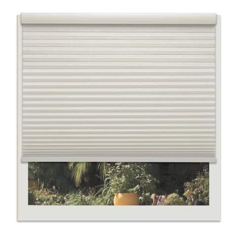 Linen Avenue Custom Cordless 20 to 21-inch Wide Seashell Light-fIltering Cellular Shade