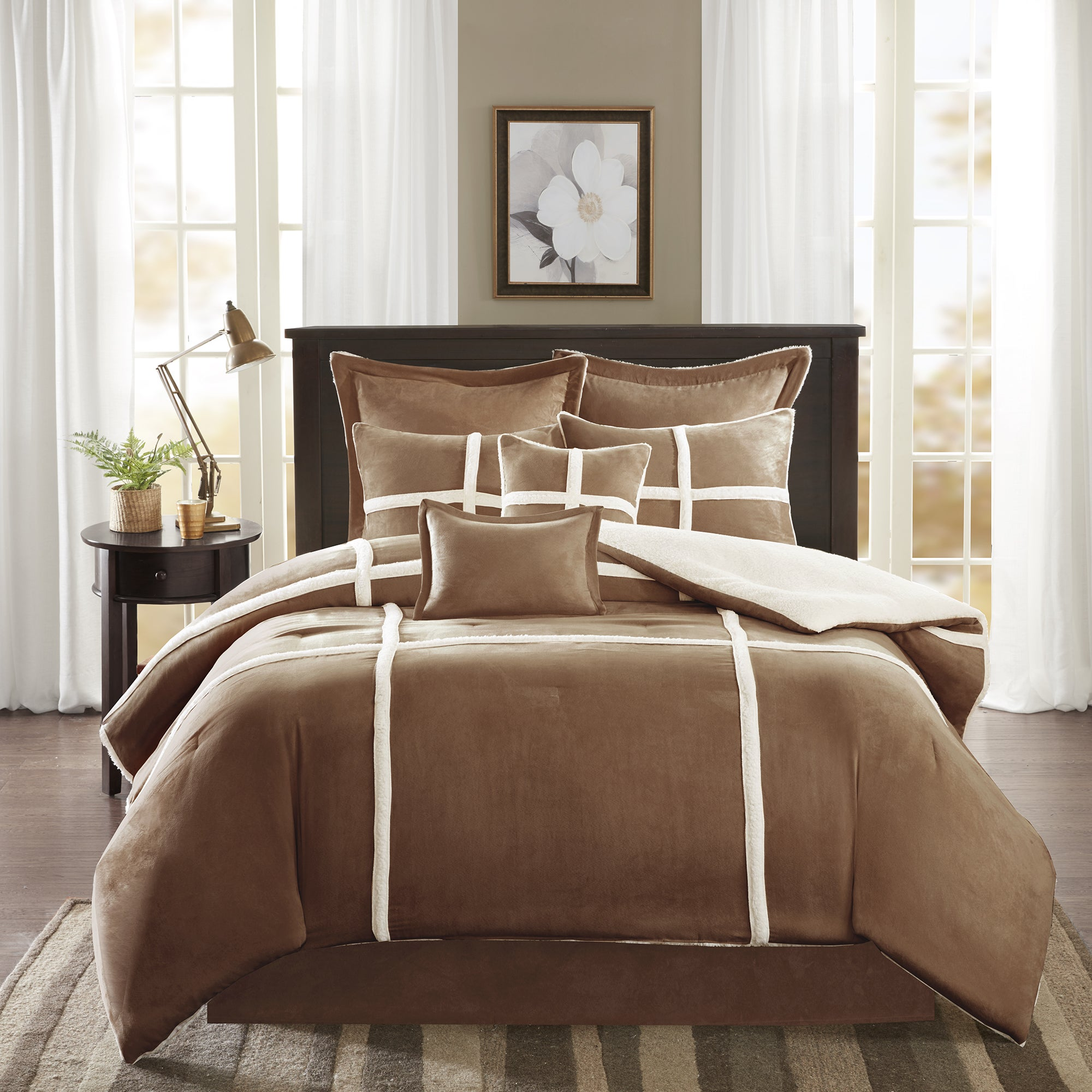 vcny bath product piece mink comforter sherpa bedding micro suede free on shipping set home