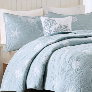 Harbor House Seaside Blue Cotton Coverlet Set (2 options available)