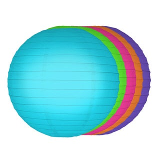 Multi Color 10-inch Paper Lanterns (5 Count)