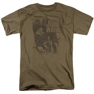 John Wayne/In The West Short Sleeve Adult T-Shirt 18/1 in Sand