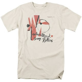 Thelonious Monk/Monk Sonny Rollins Short Sleeve Adult T-Shirt 18/1 in Cream