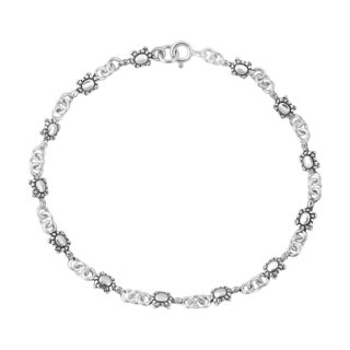 Lucky Mini Charming Turtle Link Sterling Silver Bracelet (Thailand)