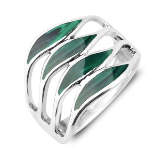 Amazing Waves Myriad of Gemstone Sterling Silver Ring (Thailand)