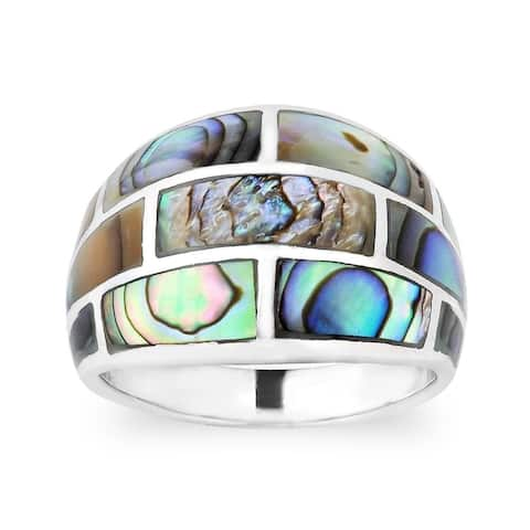 Handmade Modern Brick Blocks Gemstone Sterling Silver Ring (Thailand)