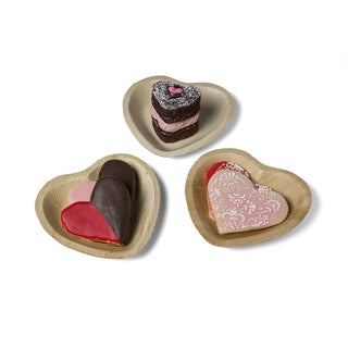 Leafware Heart Shaped Plates (25 Count)