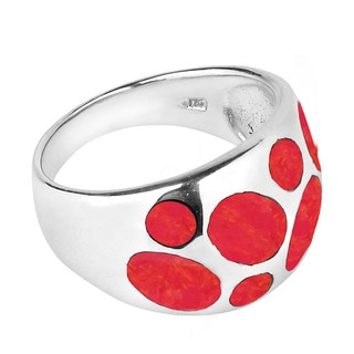 Modern Bubble Dot Dome Gemstone Sterling Silver Ring (Thailand)
