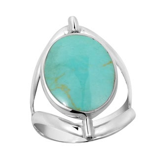 Two in One Flip Natural Stone Oval Sterling Silver Ring (Thailand)