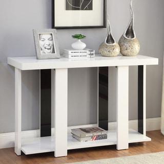 Furniture of America Kennin Modern High Gloss Two-tone Sofa Table