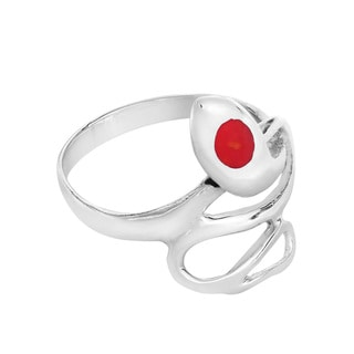 Retro Snake Coil Wrap Gemstone Sterling Silver Ring (Thailand)