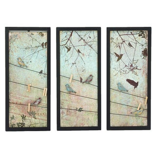 Urban Designs 'Spring Sunset' Metal Wall Decor (Set of 3)