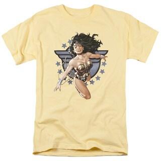 JLA/Ww All Star Short Sleeve Adult T-Shirt 18/1 in Banana