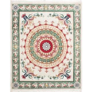 ecarpetgallery Taj Mahal Blue Wool Rug (8'2 x 10'2)