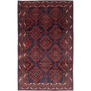 ecarpetgallery Rizbaft Blue Wool Rug (6'2 x 10'2)