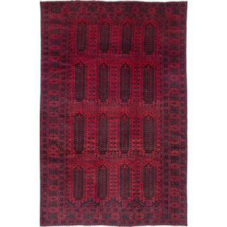 ecarpetgallery Rizbaft Red Wool Rug (6'7 x 10'1)