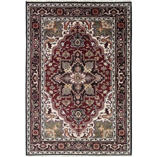 ecarpetgallery Royal Heriz Black, Red Wool Rug (5'10 x 8'5)