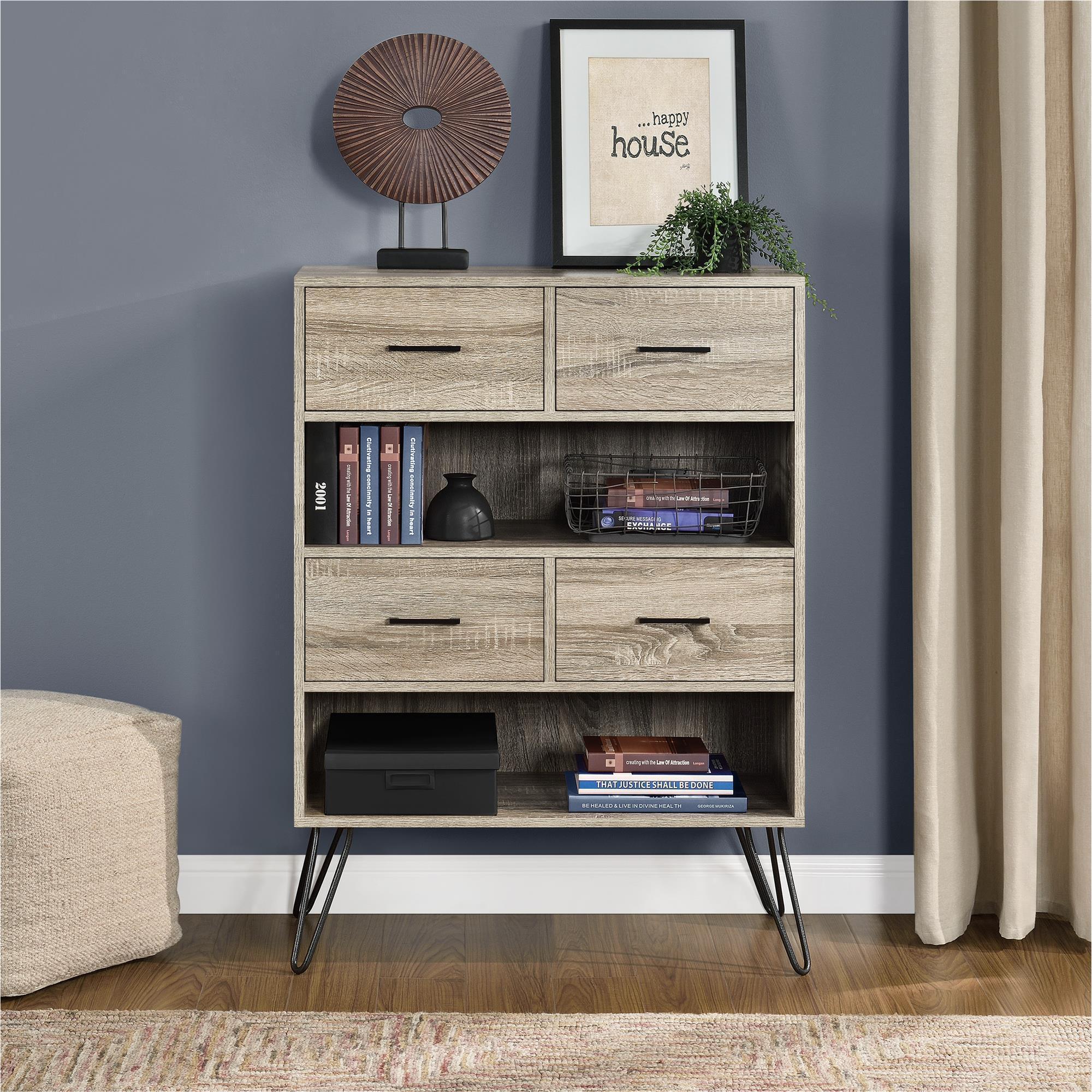 Carson Carrington Silkeborg Sonoma Oak Gunmetal Grey Bookcase