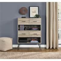 Carson Carrington Silkeborg Sonoma Oak/Gunmetal Grey Bookcase