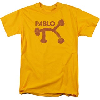 Pablo Distress Short Sleeve Adult T-Shirt 18/1 in Gold