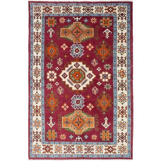 ecarpetgallery Royal Kazak Red Wool Rug (5'6 x 8'4)