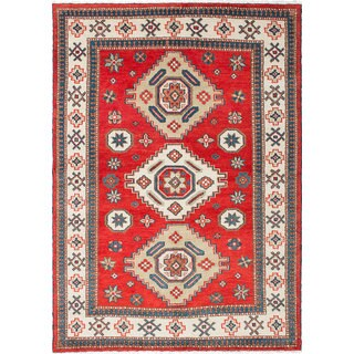 Ecarpetgallery Royal Kazak Red Wool Rug (5'9 x 8'1)