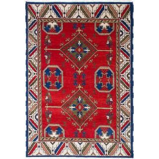 Ecarpetgallery Royal Kazak Red Wool Rug (5'7 x 8'2)