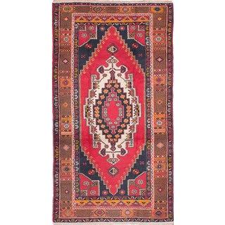 Ecarpetgallery Anadol Vintage Red Wool Rug (4'5 x 8'7)