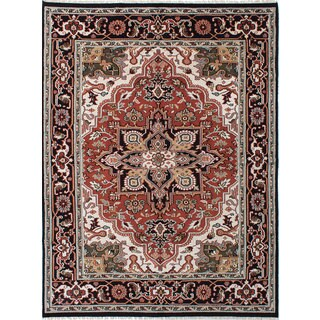 Ecarpetgallery Royal Heriz Black, Brown Wool Rug (7'9 x 10'2)