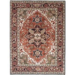 Ecarpetgallery Royal Heriz Brown, Ivory Wool Rug (7'8 x 10'2)