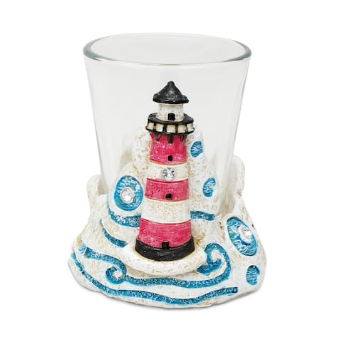 Puzzled Lighthouse Stone Shot Glass