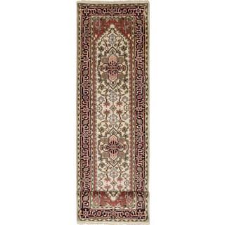 Ecarpetgallery Serapi Heritage Blue, Ivory Wool Rug (3' x 11'10)