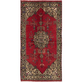 Ecarpetgallery Konya Anatolian Red Wool Rug (5'3 x 10'2)
