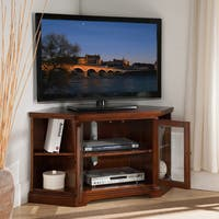 Gracewood Hollow Kuteli Cherry 46-inch Corner TV Stand with Bookcases
