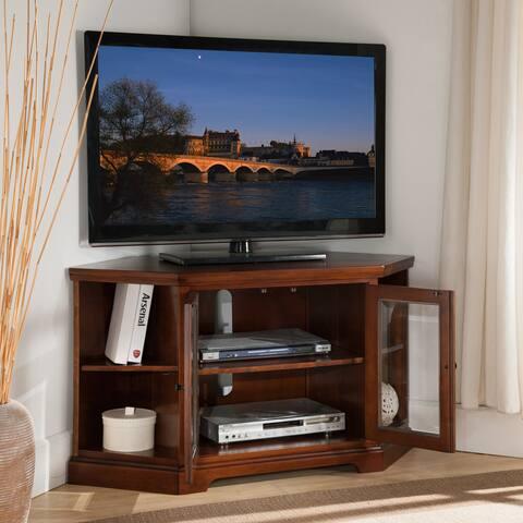 Copper Grove Jabrosa Cherry 46-inch Corner TV Stand with Bookcases