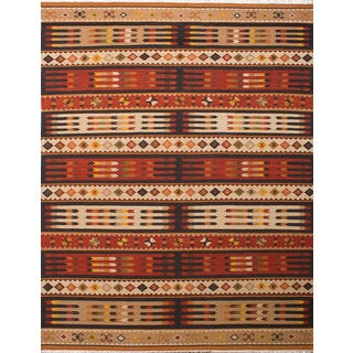 Ecarpetgallery Izmir Kilim Ivory, Red Wool Kilim (9'4 x 11'11)
