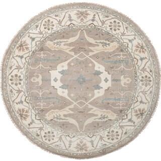 Ecarpetgallery Royal Ushak Grey Wool Rug (9'9 x 9'9)