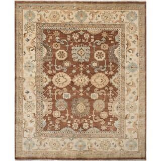 Ecarpetgallery Royal Ushak Brown Wool Rug (8'2 x 9'10)