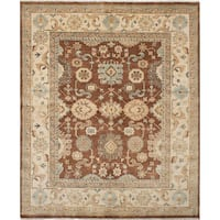 Ecarpetgallery Royal Ushak Brown Wool Rug