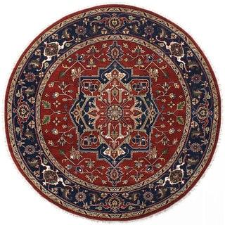 Ecarpetgallery Serapi Heritage Brown Wool Rug (7'11 x 7'11)